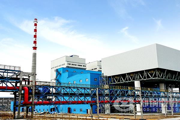 造纸厂生产线的锅炉设备