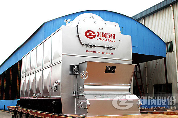 蒸汽锅炉DZL4-1.25,这里只给出了锅炉型号为DZL,即单锅筒纵置式链条炉,还有锅炉容量为4吨,压力为1.25,但是该产品型号并没有给出燃料。DZL型锅炉属快装链条锅炉,其采用链条炉排技术本身就决定了燃料不光是煤炭,还可以是生物质燃料,如稻壳、蔗渣、木料、动物粪便等。 郑锅压力1.