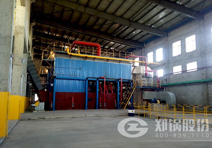 内蒙古永和2台25吨工业链条炉排锅炉项目