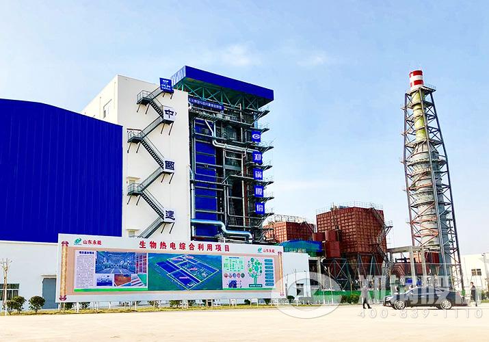 山东永能两台75吨大型生物质发电锅炉项目