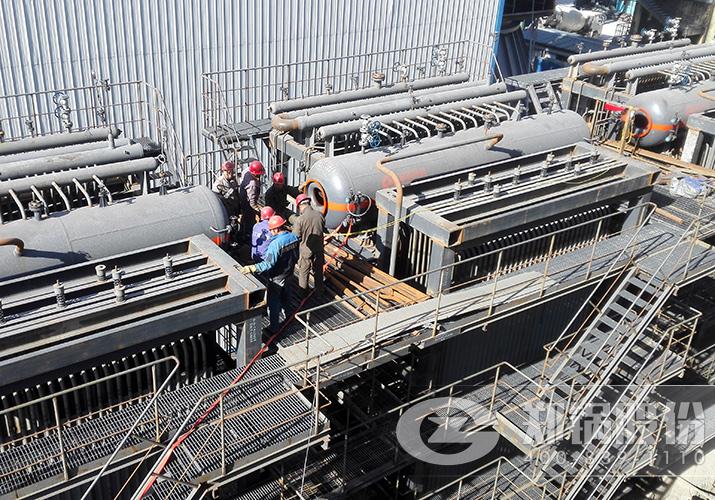 山东天阳15吨碳素行业余热烟气回收利用锅炉项目